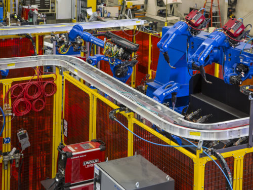 Robot Cell Built by Wayne Trail for Automotive Market