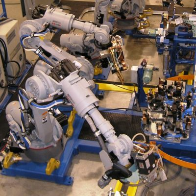 Robotic Resistance Spot Welding System at Wayne Trail